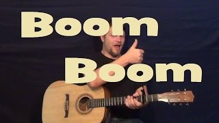 Boom Boom (John Lee Hooker) Easy Guitar Lesson Strum Chords Licks How to Play Tutorial