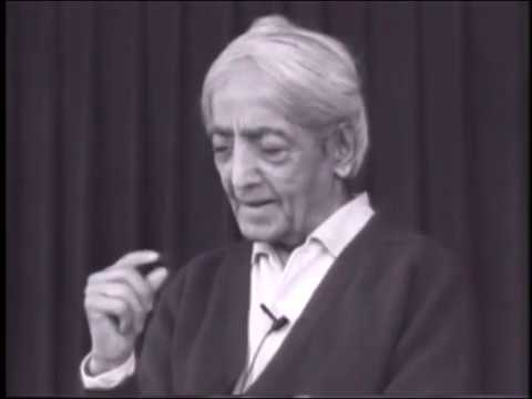 On individual and group consciousness | J. Krishnamurti