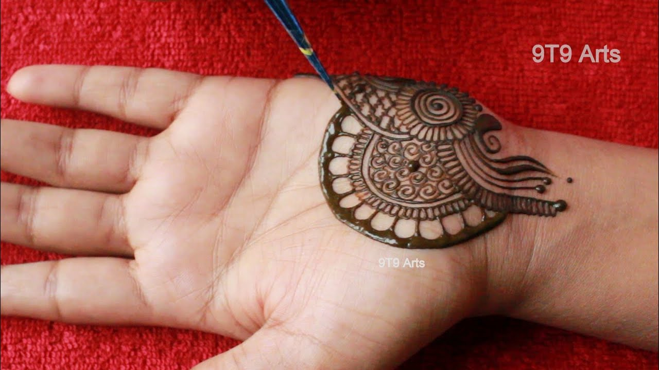 Beautiful Karva Chauth Flower Mehndi Design for Hand||Simple Peacock Mehdi Design||Easy Henna Design