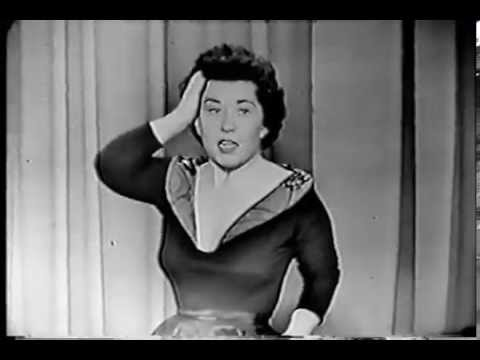 CHARLOTTE RAE 1954 stand-up routine