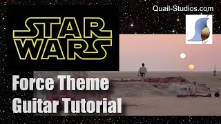 Star Wars Force Theme Guitar Lesson