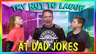 TRY NOT TO LAUGH AT DAD JOKES | We Are The Davises