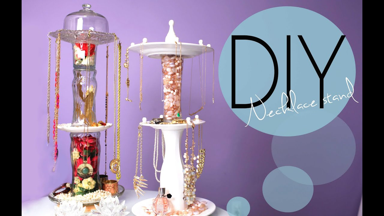 Diy necklace and jewelry display spinning stand how to for Jewelry displays