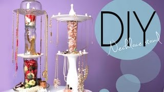 DIY Necklace and Jewelry Display Spinnin...