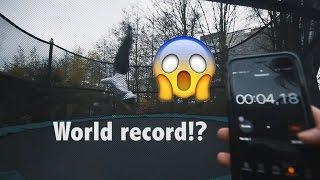 BREAKING GAVIN MAY HIS TRAMPOLINE WORLD RECORDS!!