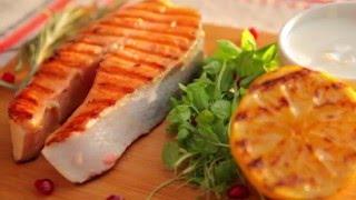 Шашлык из рыбы с лимоном и травами
