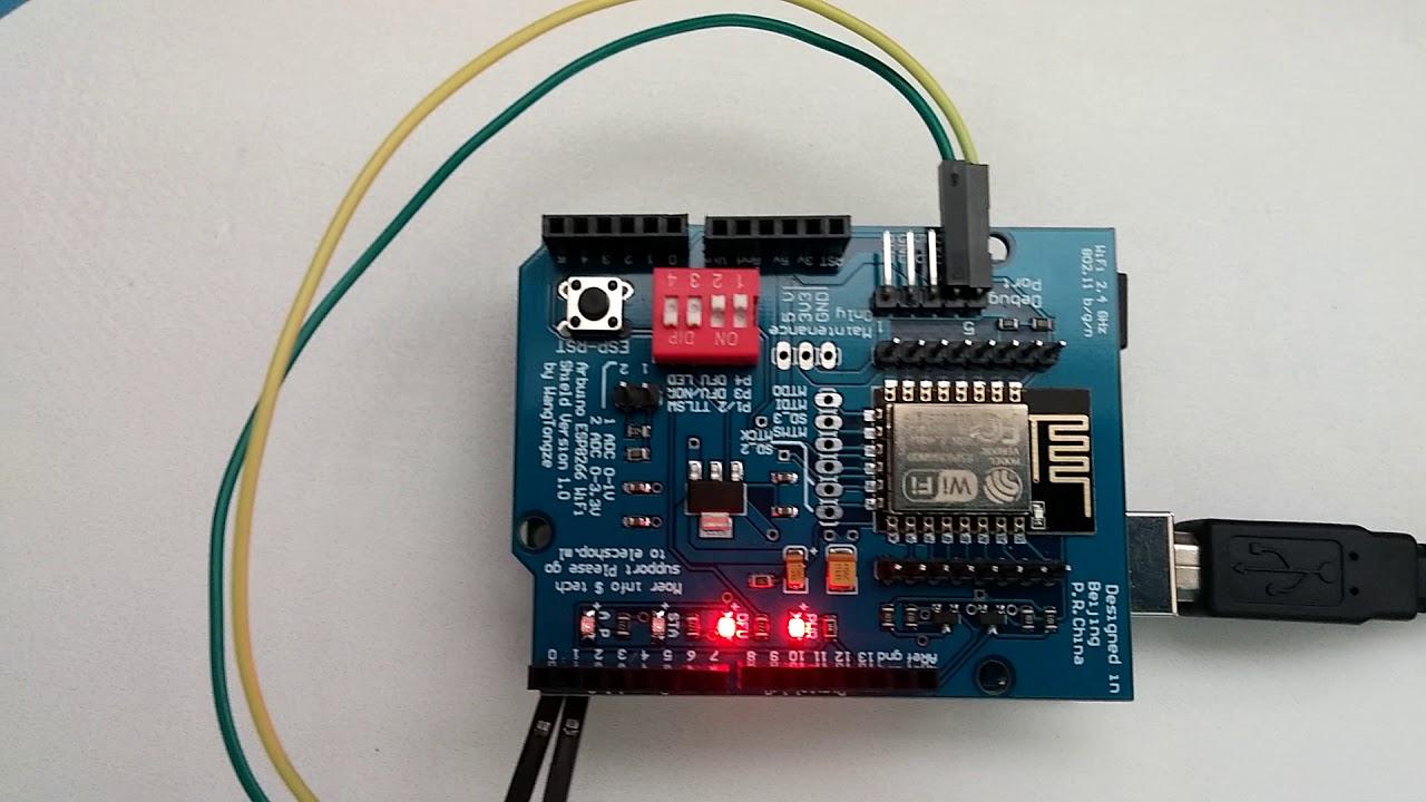 Arduino Uno 에 ESP8266 WIFI Shield 를 장착해서 Wepserver HellowSever 예제 테스트 해 보기