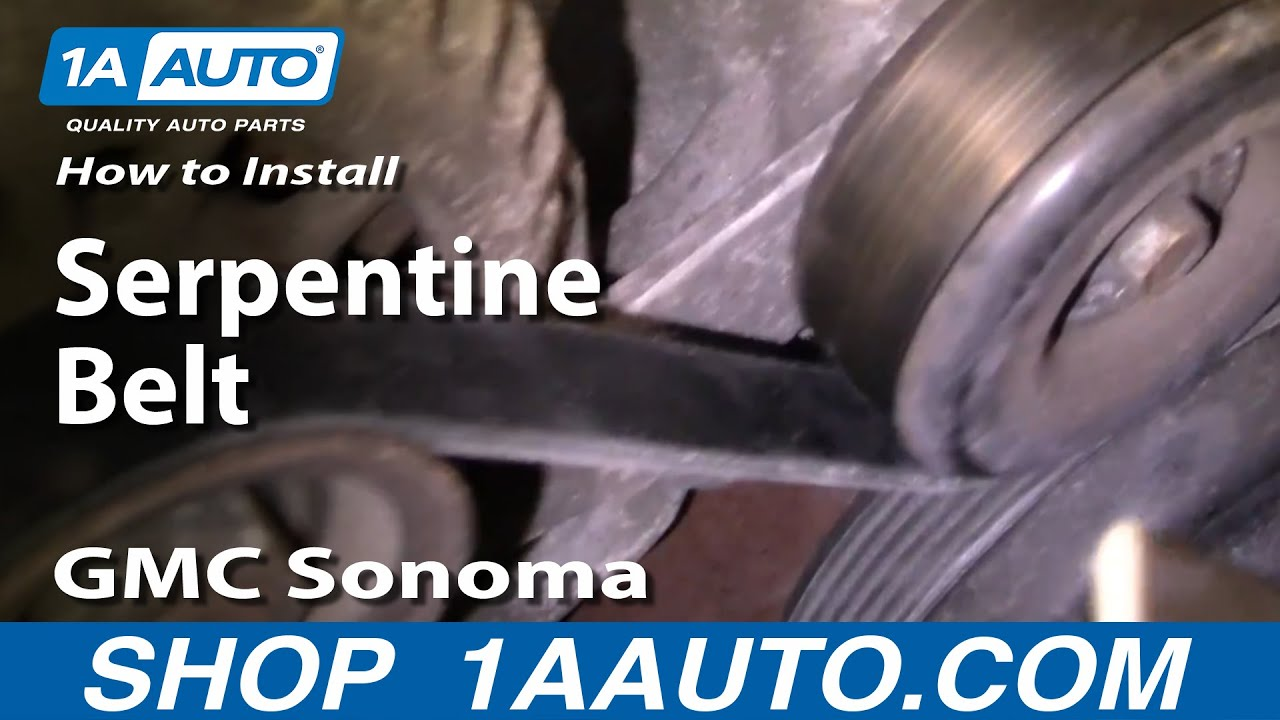 hight resolution of how to install replace serpentine belt gmc sonoma 4 3l 1aauto com