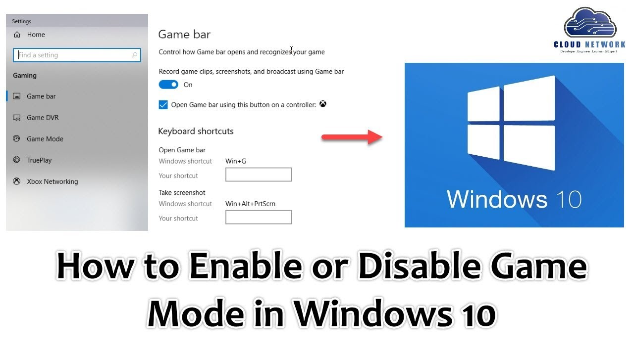 How to Enable or Disable Game Mode in Windows 10 | How to Turn On or