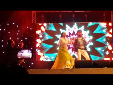 Bhojpuri Hungama Dance Doha Qatar Khesari Lal Yadav with akshra singh 04-03-2016