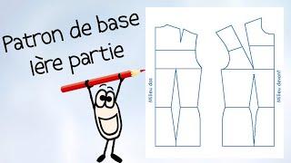 (Eng Sub) Patron de base (part 1) - Leçon Couture n°2