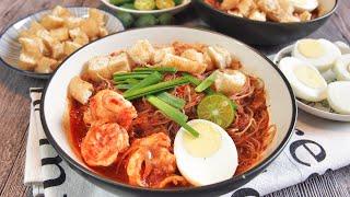 SUPER EASY Singapore Mee Siam 米暹 Malay Noodles  Bee Hoon Recipe  Singapore Street Food