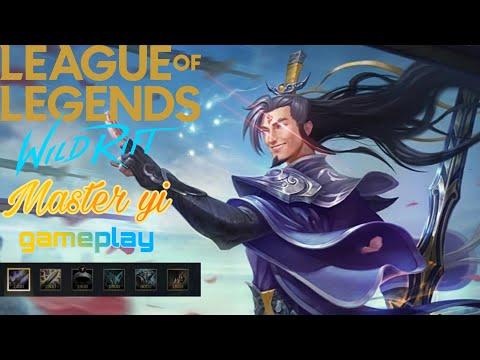 Master Yi Baron Lane Gameplay   lol Wildrift 