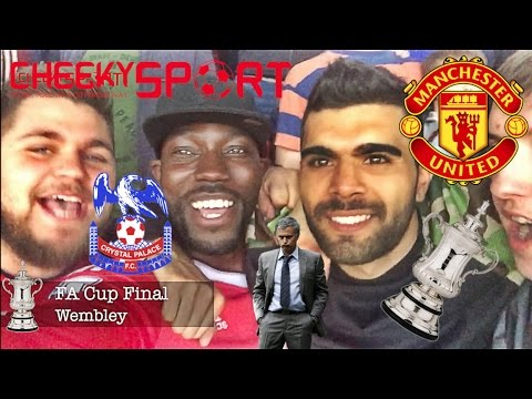 SCENES AT WEMBLEY AS JOSE MOURINHO ANNOUNCED AT FA CUP FINAL   PALACE 1-2 MAN UTD