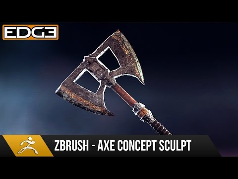 #1 Game Axe Asset Creation Series - Zbrush Concept Sculpting HD