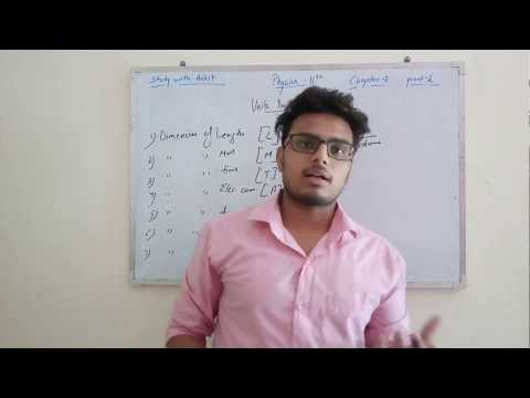 How to calculate and find Dimensions? Physics ,class-11th ,chapter-2, units and measurement,part-2