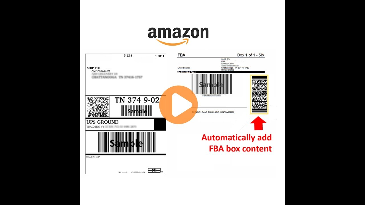 Custom labels from your ibm i including amazon fba shipping labels with box content 2d barcodes