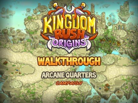Kingdom Rush Origins Walkthrough: Arcane Quarters (stg13) Campaign Veteran |