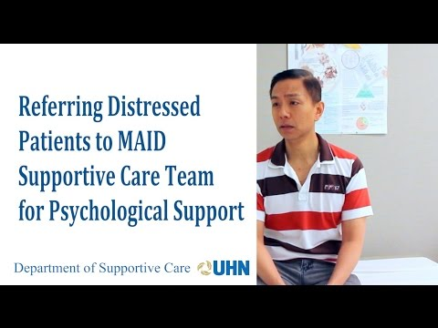 Referring a distressed patient to the MAID Supportive Care Team