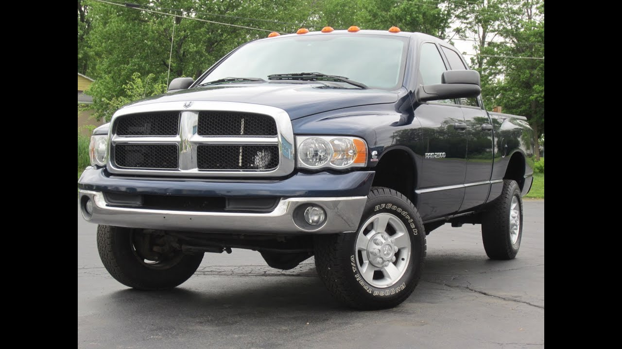 2004 dodge ram 2500 slt 4x4 5 9l cummins diesel 325hp h o motor sold youtube. Black Bedroom Furniture Sets. Home Design Ideas