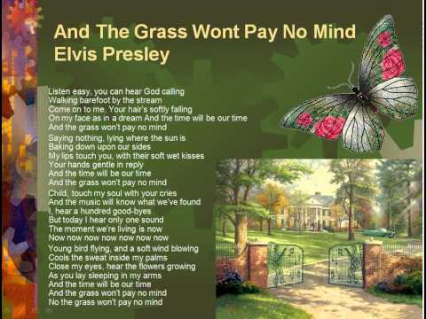 And the grass won't pay no mind - Elvis Presley (Lyrics)