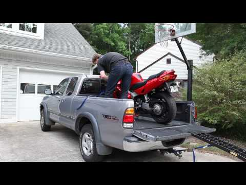 Loading A Vfr Motorcycle Into Truck Youtube