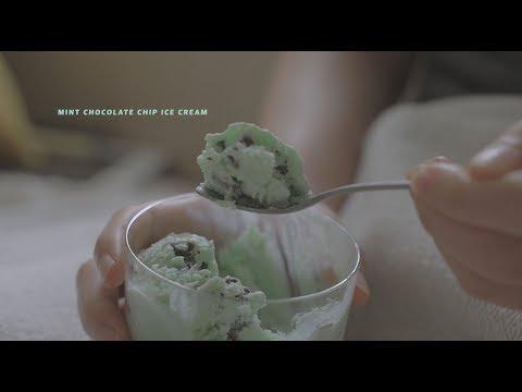 민초파 계신가요? 민트 초코 아이스크림 : Mint Chocolate Chip Ice Cream   Honeykki 꿀키