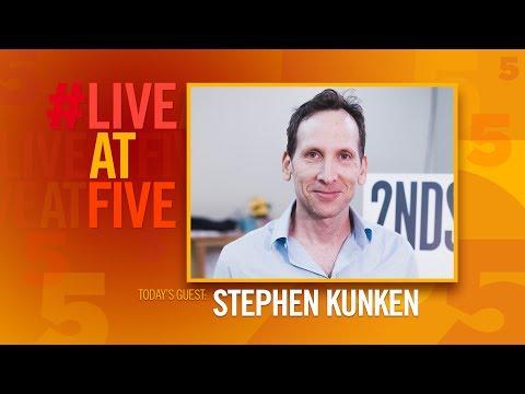 LiveAtFive with Stephen Kunken from A PARALLELOGRAM