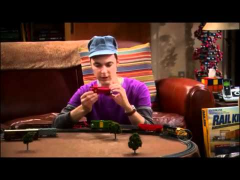 Sheldon Playing With His Train Set – The Big Bang Theory