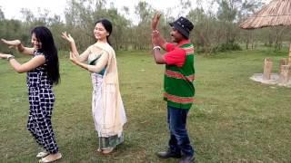 Bodo video at Jonai fuji and Dilip Narzary perf mising dance uplolad by Abinash Narzary from Jonai