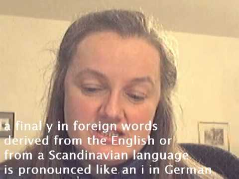 Pronunciation German y