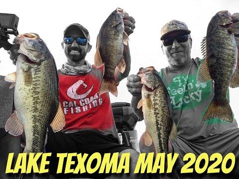 Lake Texoma - Bass Fishing - May 2020 - Cal Coast Fishing - Striper - Crappie