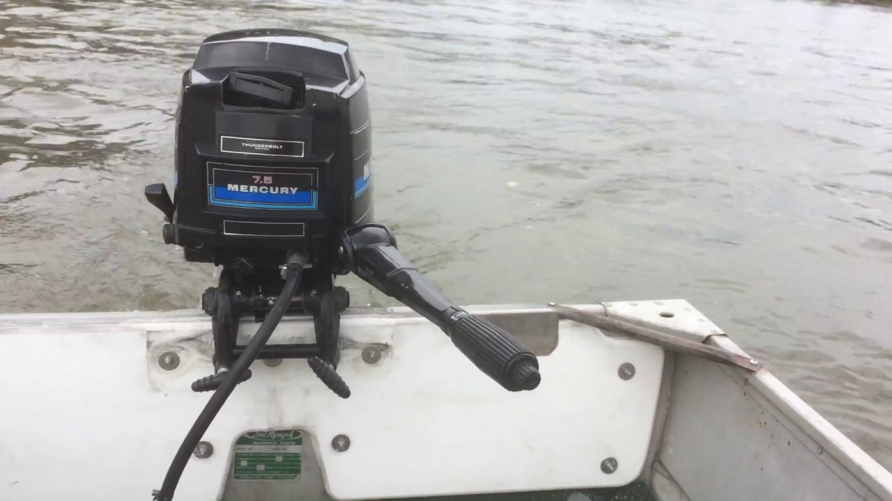 1982 Mercury 7 5 HP Outboard Cold Start and Run