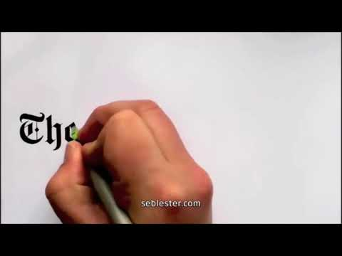 Amezing calligraphy Drawings famous brand logo