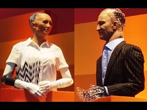 Rise 2017- Hanson Robotics  - two robots debate the future of humanity