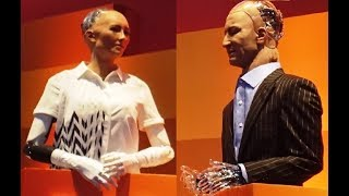 Two AI robots Sophia & Han debate the future of humanity   Rise 2017