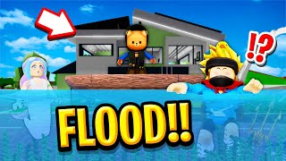 We Stopped a GIANT FLOOD in Roblox BROOKHAVEN RP!!