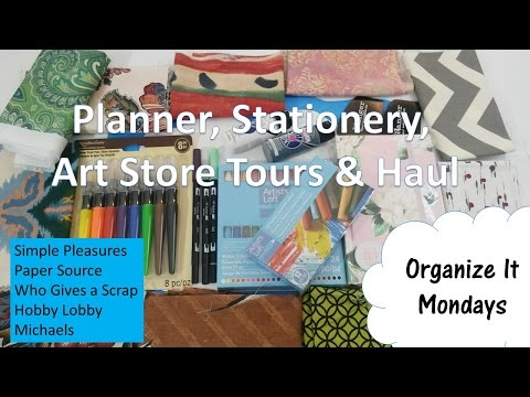 Planner, Stationery, Art Stores Tour & Haul | Simple Pleasures, Paper Source, Who Give a Scrap