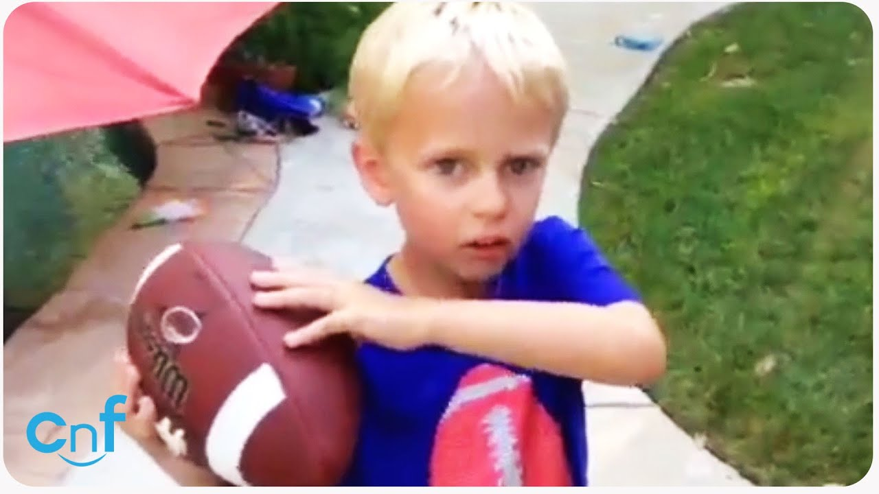 Quarterback Kid Removes Tooth with Football | It's Good!