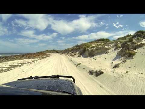 Beach Drive in 4wd Triton at Port Victoria Yorke Peninsula