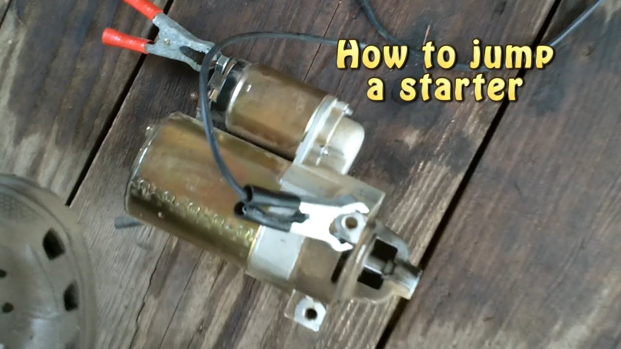 hight resolution of how to jump a starter