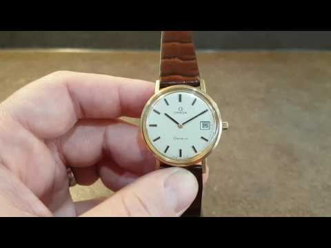 1974 Omega Geneve automatic 9k gold vintage watch