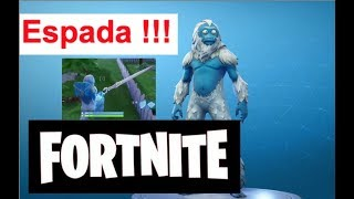 FORTNITE skin Trog Snowman catching sword Gameplay ANGRY!!!
