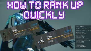 Warframe - How To Rank Up Quickly (Post Specters Of The Rail)