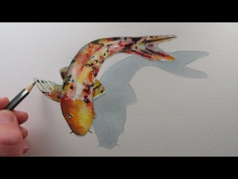 How to draw a fish koi carp narrated step by step youtube for Real koi fish