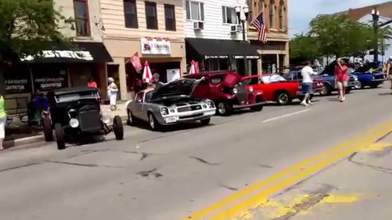 Blast from the Past 2014 Delaware Ohio Car Show - YouTube