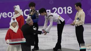 yuzuru hanyu 2018 PyeongChang Men's figure skating Venue Ceremony Fancam