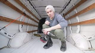 Prepping New Van for Custom Van Dwelling Build/Building The Ultimate Road Trip Machine