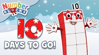 Numberblocks - Countdown to #Christmas: 10 DAYS! | Learn to Count | Happy Holidays!