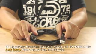 6FT TygerWire Premium 1.4 3D HDMI Cable Product Review